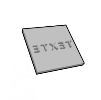 Plaque de texte personnalisable carré