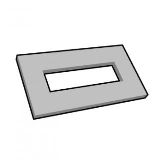 Plaque de texte personnalisable rectangulaire pour dateur