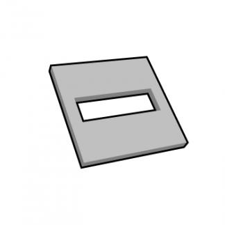 Plaque de texte personnalisable carré pour dateur