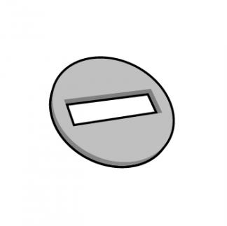 Plaque de texte personnalisable ronde pour dateur
