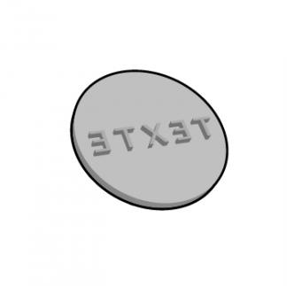 Plaque de texte personnalisable ronde