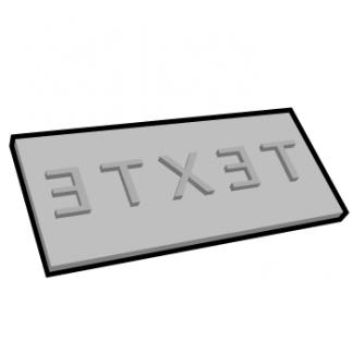 Plaque de texte personnalisable rectangulaire