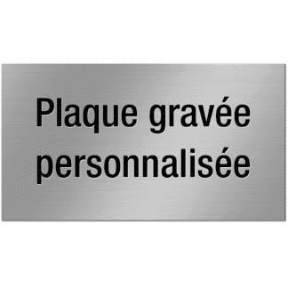 HANKO Luxembourg - Plaque personnalisée pour boîte aux lettres ou sonnette - Argent Brossé