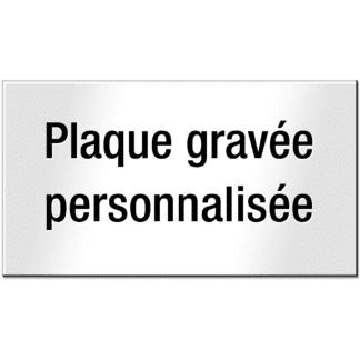 HANKO Luxembourg - Plaque personnalisée pour boîte aux lettres ou sonnette - Blanche