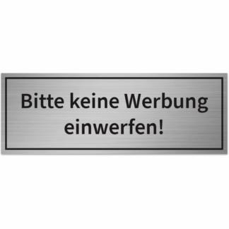 HANKO Luxembourg - Plaque - Bitte keine Werbung einwerfen - Argent