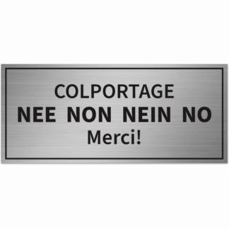 HANKO Luxembourg - Plaque - Colportage Non Merci - Argent