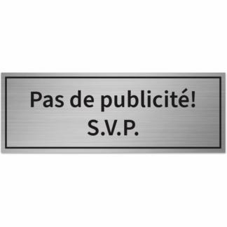 HANKO Luxembourg - Plaque - Pas de publicité! S.V.P. - Argent